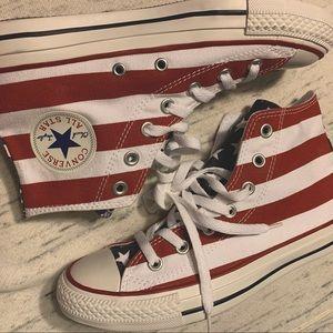 new Converse stars & stripes American flag